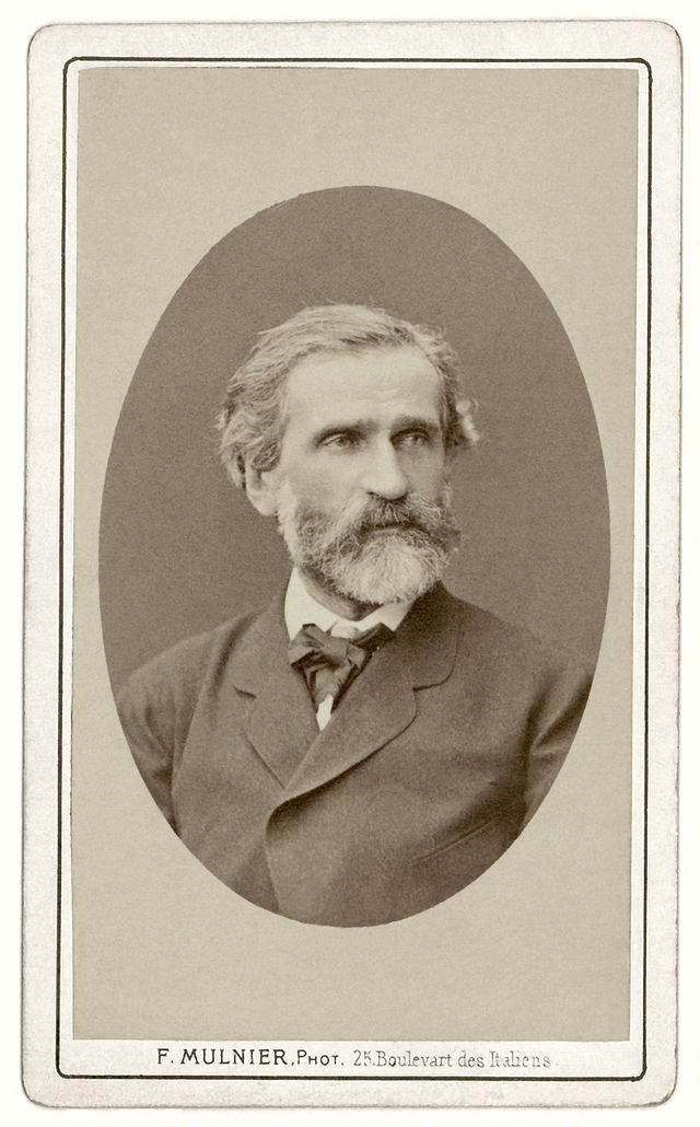 Giuseppe Verdi fotografato da Ferdinand Mulnier, ca.1870