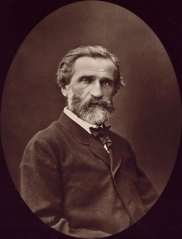 Giuseppe Verdi fotografato nel 1876 da Étienne Carjat