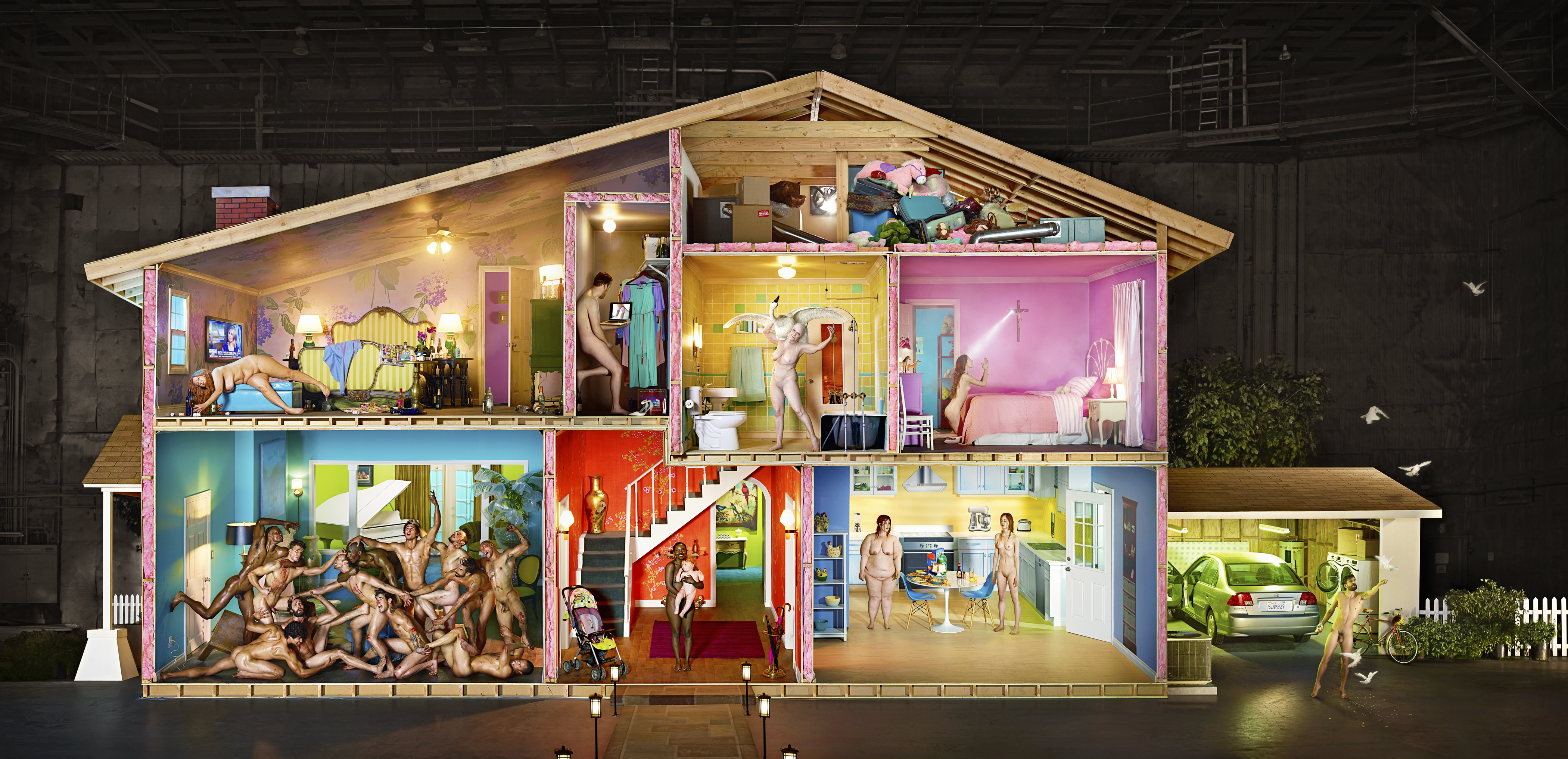 David Lachapelle self portrait as house